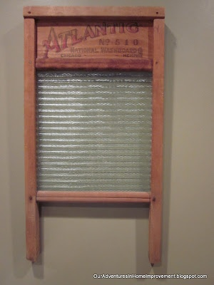 Our Adventures in Home Improvement: An Old Washboard for the Laundry Room