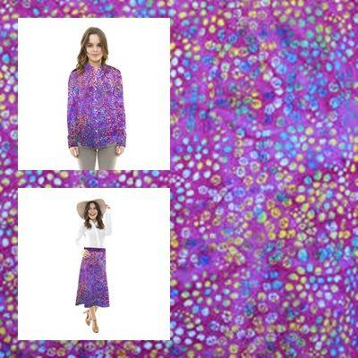 Tela de Algodón creando un efecto Tie dye, tintado a mano con un fondo acuarelado fucsia con pequeñas manchas multicolores. Tela de algodón muy fina, ligera y suave al tacto. Algodón Tie Dye ideal para la confección de camisas, faldas y pantalones. http://www.aleko.kingeshop.com/Tela-de-Algodon-Tie-Dye-dbaaaakCa.asp
