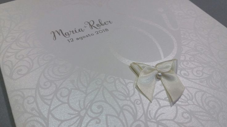 Invitación boda romantica