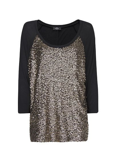 MANGO - Loose-fit sequined t-shirt,  the most glam t-shirt ever.  $44.99