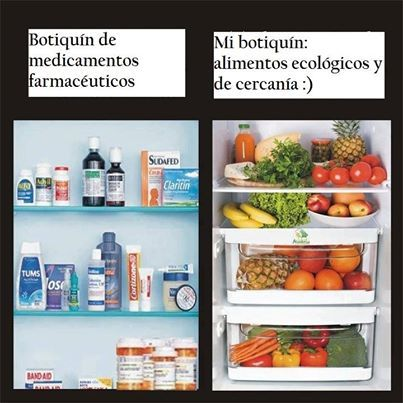 Alimentos ecológicos frente a medicamentos para mejorar la salud