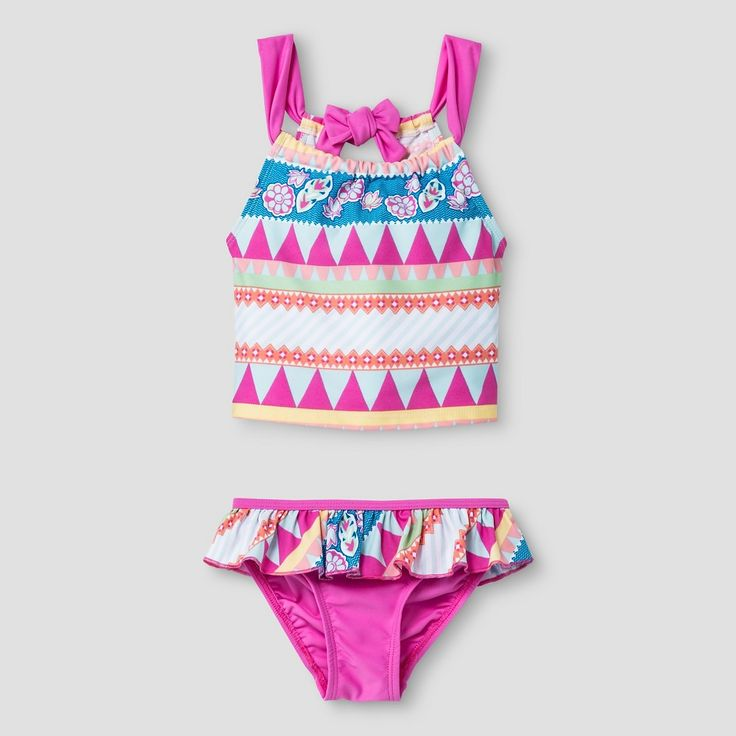 Floatmini Toddler Aztec Tankini 2-Piece Set 4T - Pink Pastel, Toddler