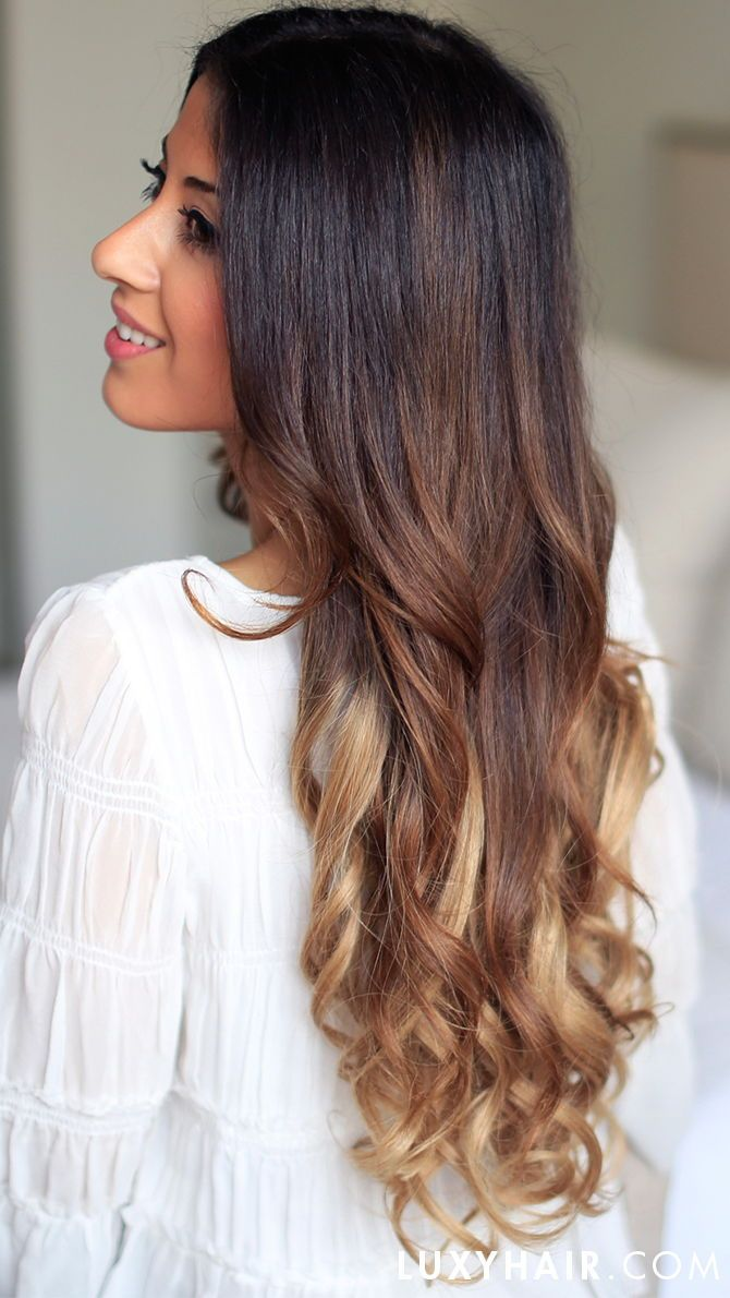 Luxy Hair Extensions Are The Perfect Way To Add Length And Volume With Our Ombre Collection You Ll Be Able To Add Natu Curly Hair Pieces Luxy Hair Hair Styles