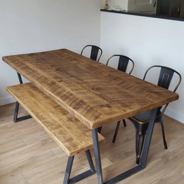 John Lewis Calia Style Industrial Reclaimed Dining Table V Frame