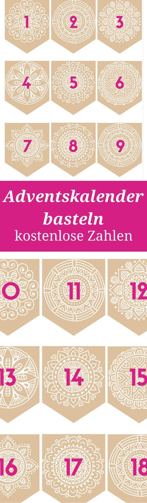 adventskalender basteln zahlen zum ausdrucken adventskalender basteln kostenlose vorlagen. Black Bedroom Furniture Sets. Home Design Ideas