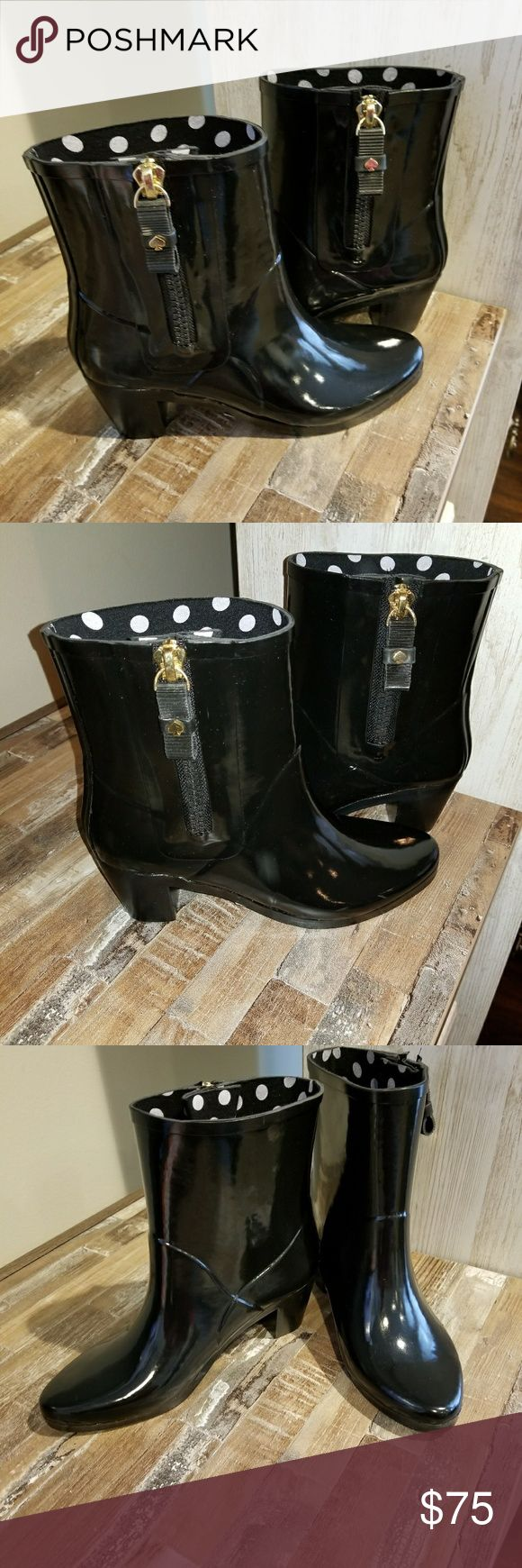 Kate Spade  Boots All Black with a Heel. No box. OFFERS WELCOM kate spade Shoes Winter & Rain Boots