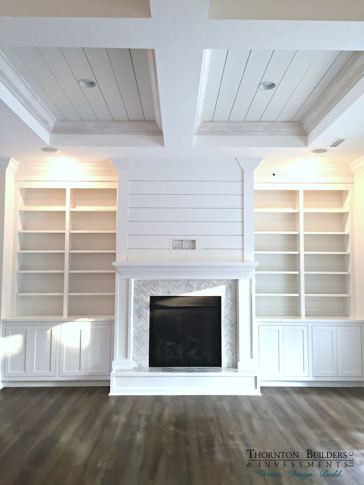The style of shelving I want in the alcove in my dining room with cupboards underneath