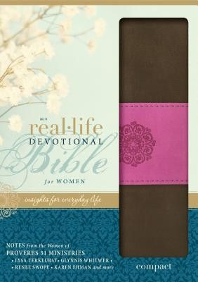 NIV Real Life Devotional Bible chocolate orchid