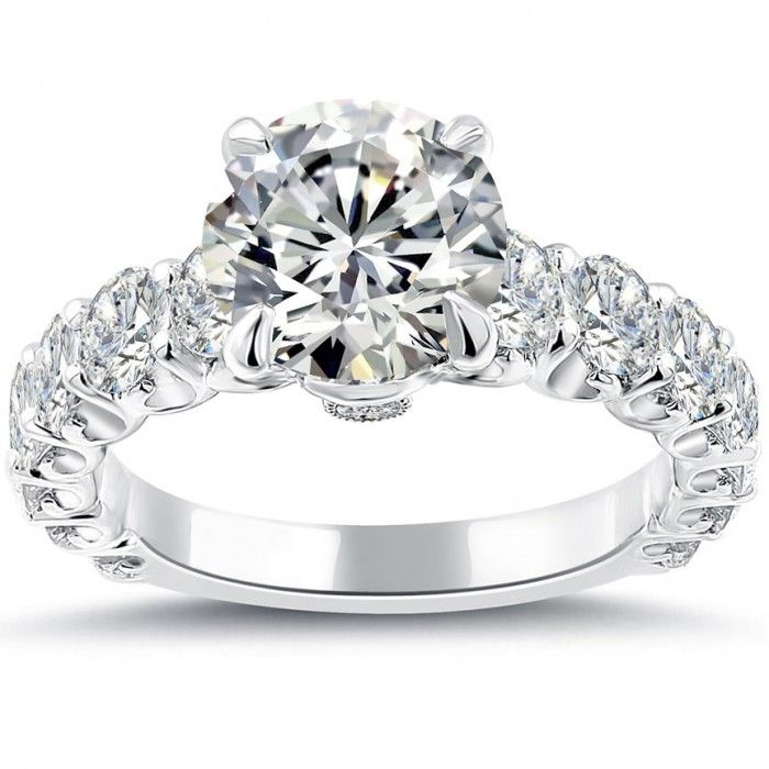 Carat Round Diamond Engagement Ring White Gold In Jewelry Watches Wedding Rings
