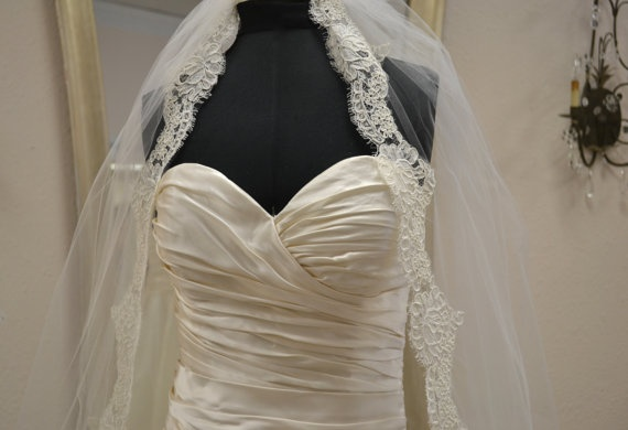 Strapless Wedding Dress in Ivory by CouturesbyLaura on Etsy, $1380.00