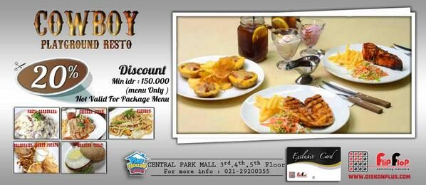 Cowboy: Discount 20% @CentralParkMall