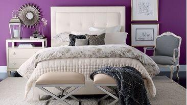 Ethan Allen Bedrooms. Magenta Bedroom.