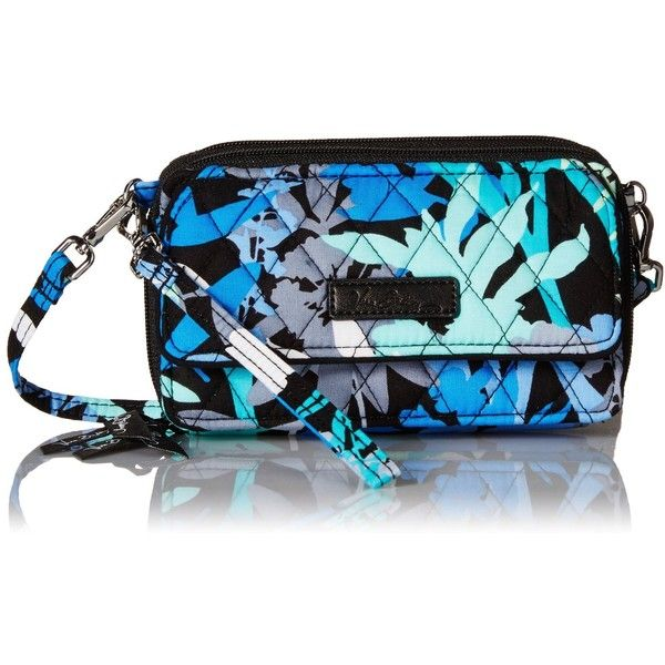 Vera Bradley All In One Crossbody Wallet ($54) ❤ liked on Polyvore featuring bags, wallets, blue crossbody, cross body, crossbody wallet, vera bradley crossbody and blue bag
