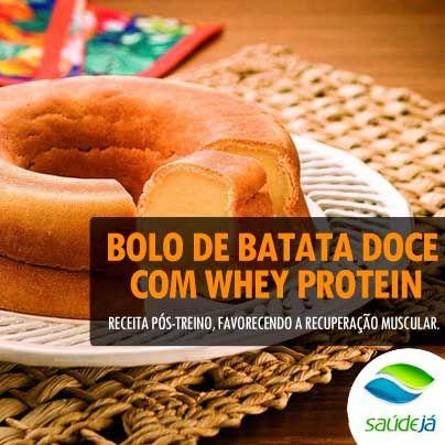 Blog - Bolo de batata doce com Whey Protein