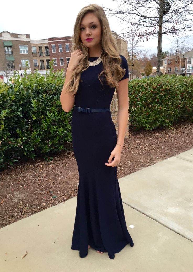 Navy mermaid maxi dress❤️