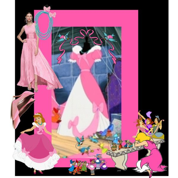 Cinderella Pink Dress Made By The Mice Hdme117 On Polyvore