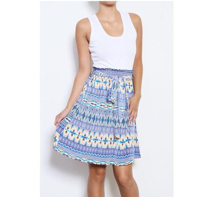 Boho Print Aztec Short Dress