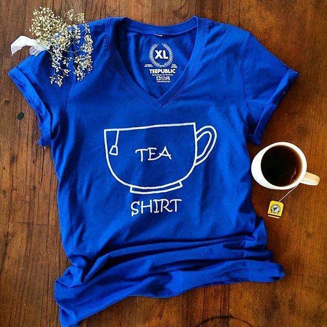 Such a dreary day today, might grab a cup of tea and tea shirt to brighten it up  #pun #tea #tshirt #pelicanandwolf