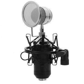 Micrófono condensador BM - 8000 Sonido Profesional estudio de grabación con el enchufe de 3.5mm sostenedor del soporte