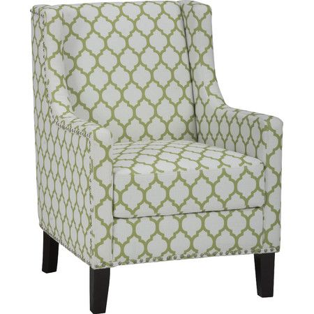 Wrapped In Avocado Hued Geometric Upholstery This