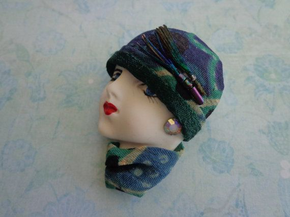 Vintage Art Deco Brooch of Lady by PipersEmporium on Etsy, $18.00
