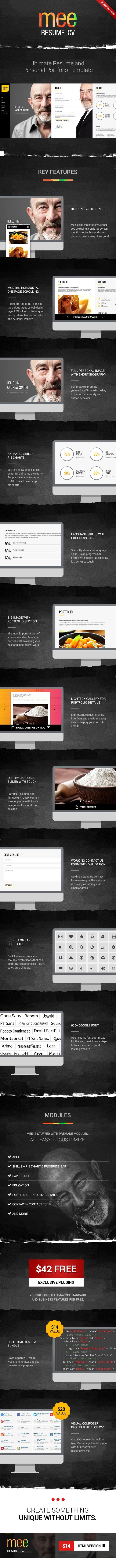 WordPress - MEE - Responsive Resume / Personal Portfolio theme | ThemeForest