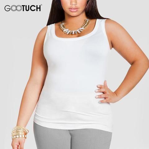 0e5ff96242271 Womens Cotton Tank Tops Plus Size 4XL 5XL 6XL Women s Sleeveless T Shirt  Large Size Undershirt Ladies Sexy White Singlet 049A