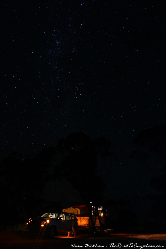 Starry night on the Nullarbor, Western Australia