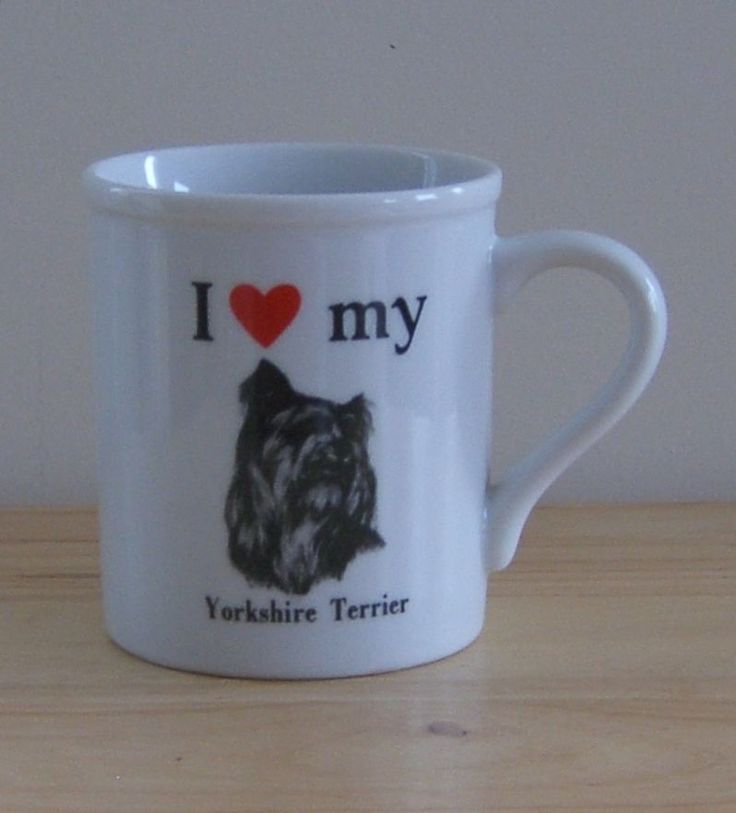 I Love My Yorkshire Terrier Mug Yorky Coffee Cup Strand Papel Dog Pet #91605  #PapelInc
