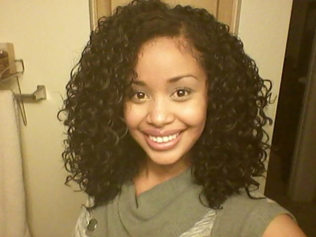 Beautiful head of curls. This is the length I'm aiming for! Just alil longer.