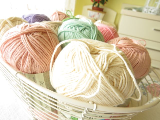 Pastel crochet cotton yarn