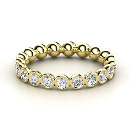 Pod Eternity Band, Yellow Gold Ring with Diamond from Gemvara: Pods Eternity, Platinum Ring, Eternity Bands, Yellow Gold Rings, Gemvara, Eternity Rings, Jewelry, White Gold Rings, Silver Rings