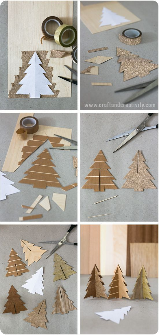 Wood veneer trees - by Craft & Creativity:
