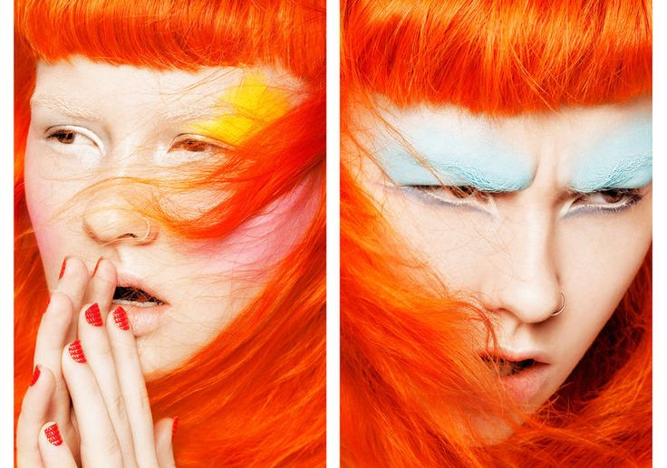 Glassbook Magazine's Color Punch Story Boasts Vibrant Beauty Looks #makeup trendhunter.com