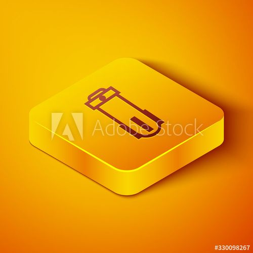 Isometric Line Water Filter Icon Isolated On Orange Background System For Filtration Of Water Reverse Osmosis In 2020 Orange Background Isometric Vector Illustration