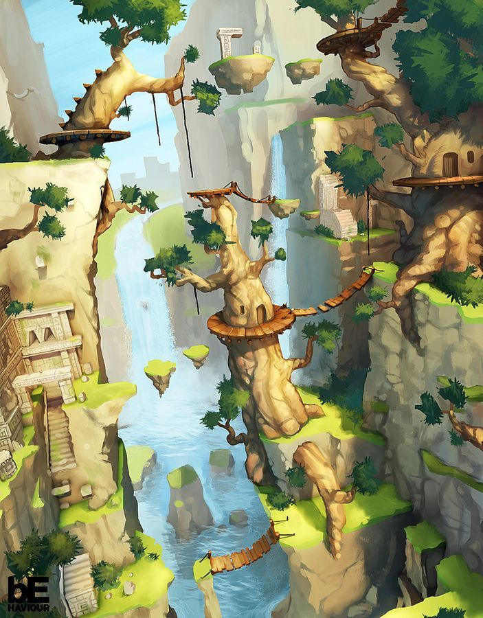 Great illustration style. Reminds me of Zelda.   2D – Pro « Corentin Chevanne Portfolio
