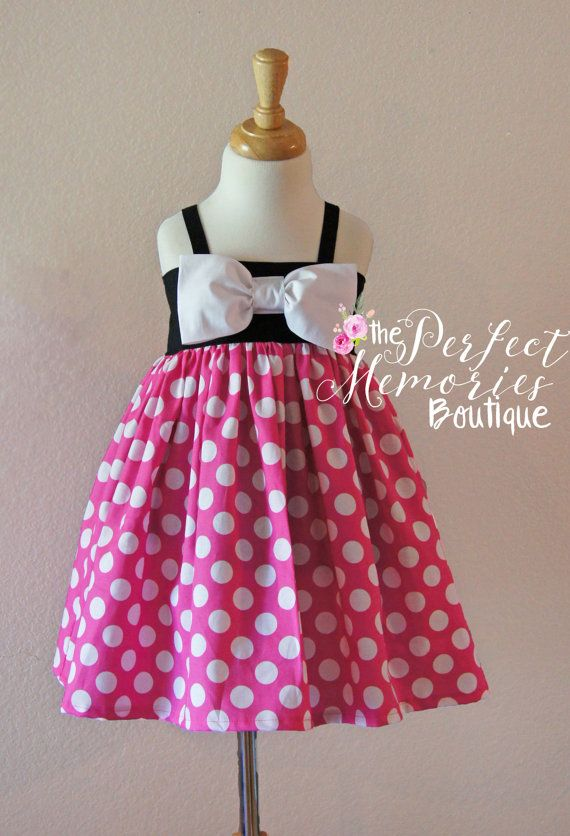Pink Minnie Mouse Dress Minnie Mouse Dress Girls Minnie by ThePMB