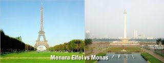 Eifel Paris vs Monas Indonesia