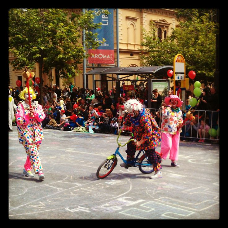 Clowns at the #Adelaide Christmas Pageant. #australia #southaustralia