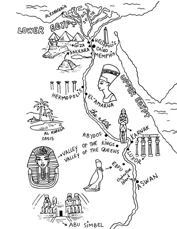 Carte De L Egypte Ancienne Egypte Dessin Egypte Egypte Ancienne
