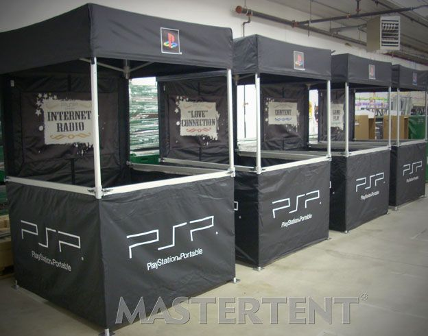 Printed Pop Up Tents: PlayStation, MasterTent Series 43, 5'x5'