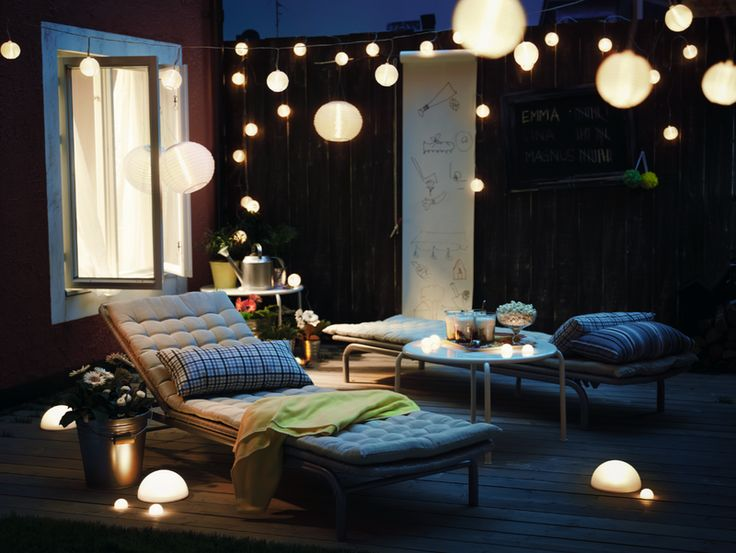 patio lighting ikea solvinden balcony pinterest ikea outdoor balconies and exterior lighting. Black Bedroom Furniture Sets. Home Design Ideas