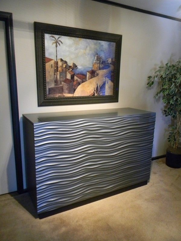 custom made modern wave tvlift console with swivel
