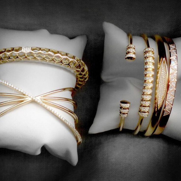 #MelissaKayeJewelry #bracelets in #18k #gold with #diamonds #jewelry…