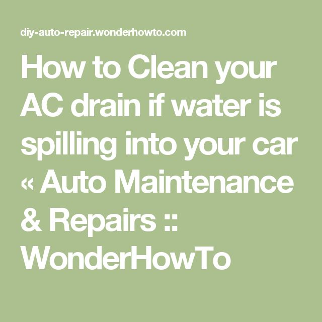how to clean ac drain