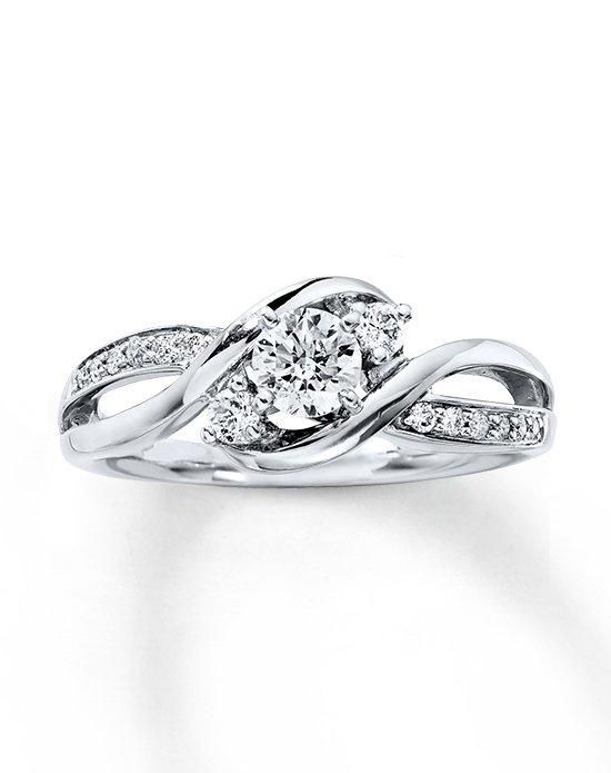 Kay Jewelers engagement ring in white gold with round cut I Style: 991049800 I https://www.theknot.com/fashion/991049800-kay-jewelers-engagement-ring?utm_source=pinterest.com&utm_medium=social&utm_content=june2016&utm_campaign=beauty-fashion&utm_simplereach=?sr_share=pinterest