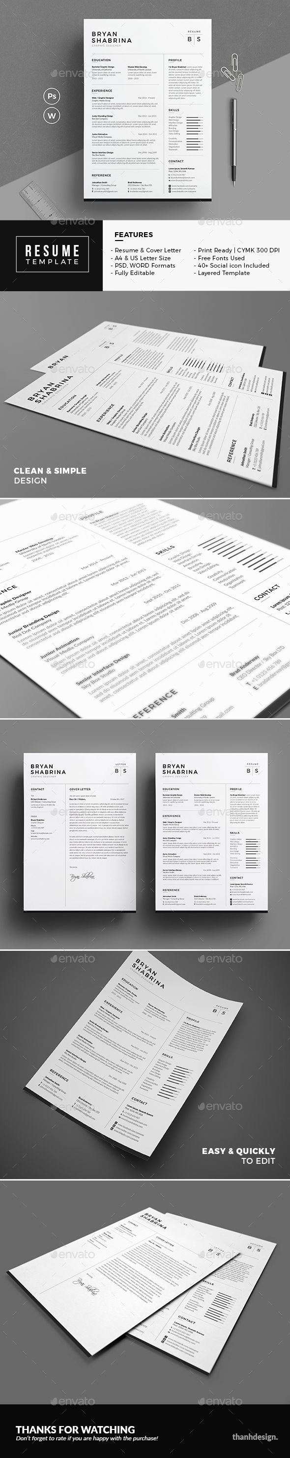 Resume 140 best Resume Templates 2018 images