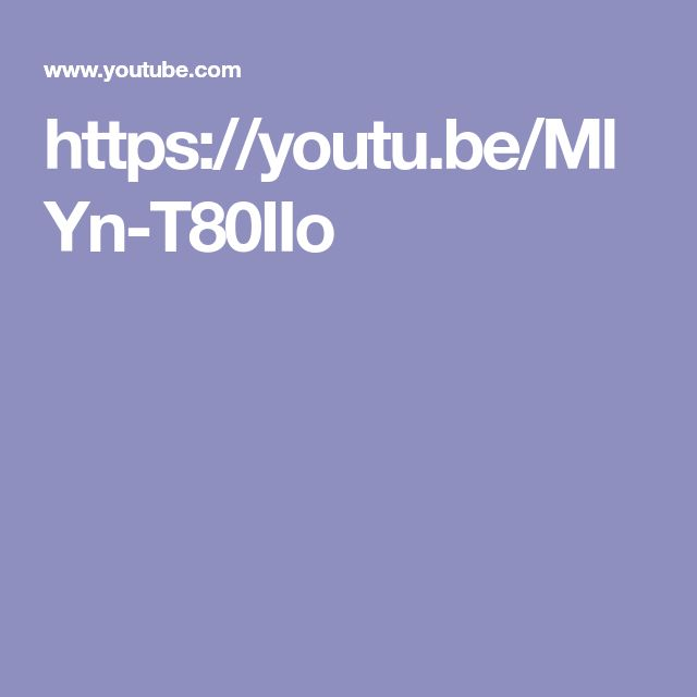 https://youtu.be/MlYn-T80IIo