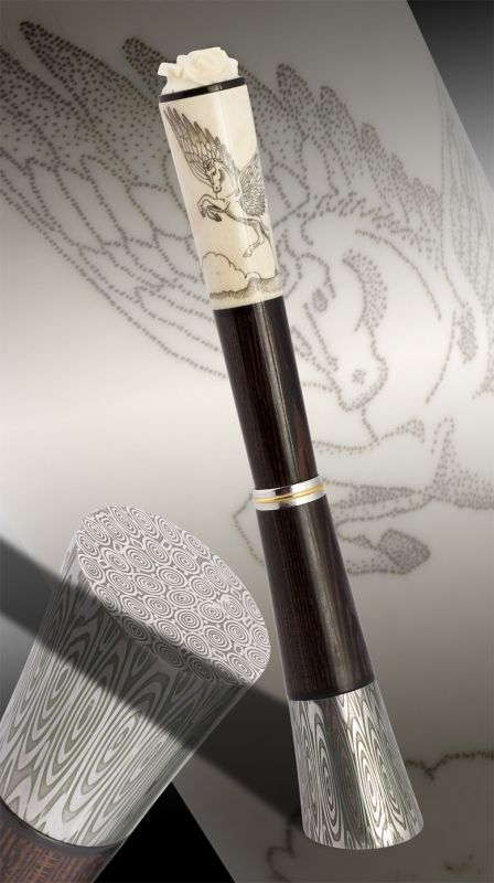 Pegasus Fountain Pen  Stands by itself!   Ghibli Brand