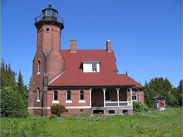 Lighthouse for sale: on a 69 acre private island north of Beaver Island, Mich, (fully equipped: sailors quarters, octogonal lighthouse, brickhouse. Built in 1892, priced at $3,200,000 & needing more millions for restoration.